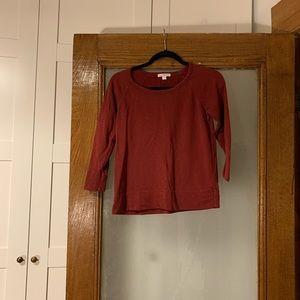 JAMES PERSE Red Cotton Sweatshirt